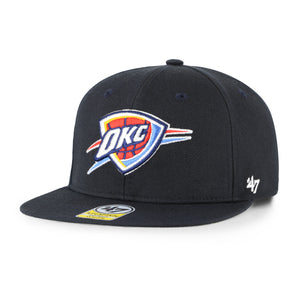 OKLAHOMA CITY THUNDER LIL SHOT 47 BRAND CAPTAIN YOUTH SNAPBACK- NAVY