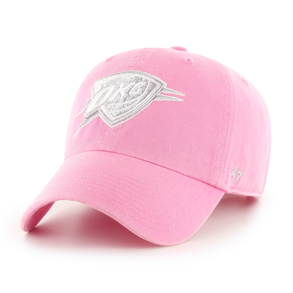 47 BRAND OKLAHOMA CITY THUNDER WOMENS ROSE METALLIC 47 CLEAN UP HAT