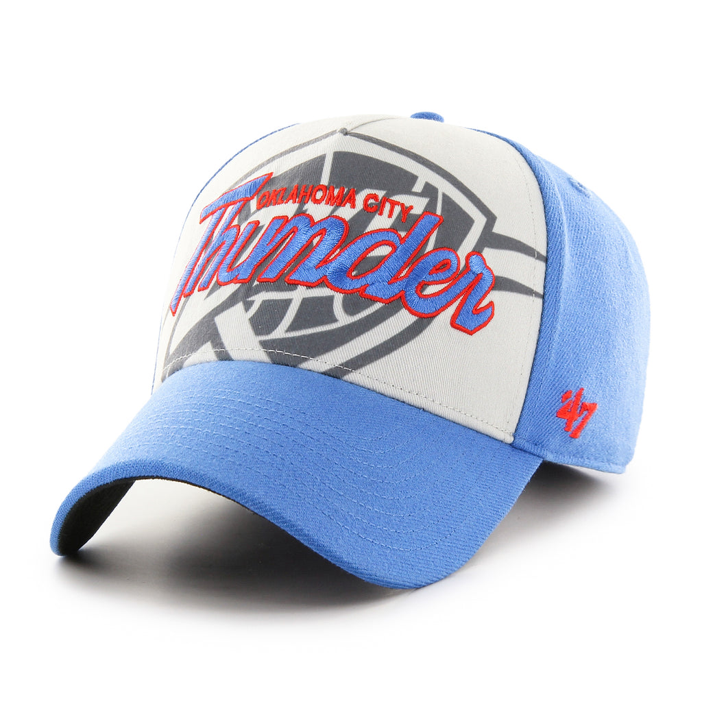 47 BRAND OKLAHOMA CITY THUNDER BLUE RAZ SHADOW SCRIPT MVP HAT