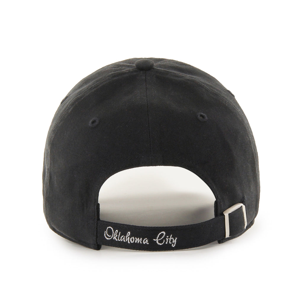 47 BRAND OKLAHOMA CITY THUNDER WOMENS BLACK SPARKLE 47 CLEAN UP HAT