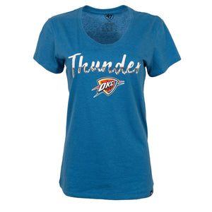 OKLAHOMA CITY THUNDER WOMENS  47 BRAND SPARKLE DIP CLUB SCOOP TEE