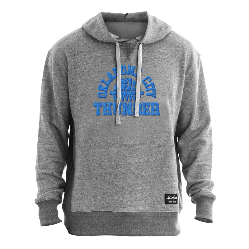 OKC THUNDER NEW ERA MENS FRENCH TERRY PULLOVER HOODIE