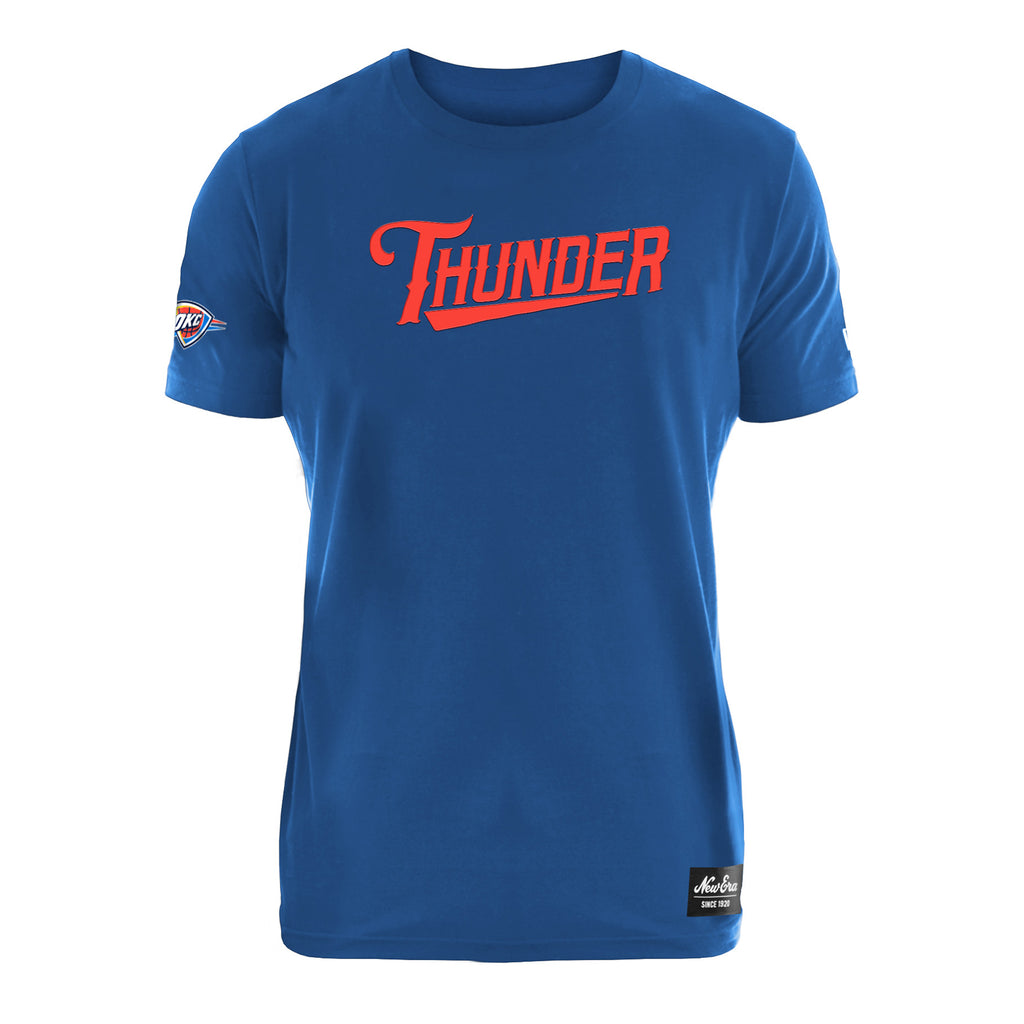 OKC THUNDER NEW ERA MENS COTTON SHORT SLEEVE TEE