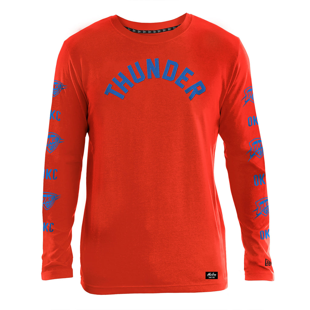 OKC THUNDER NEW ERA MENS COTTON LONG SLEEVE CREW
