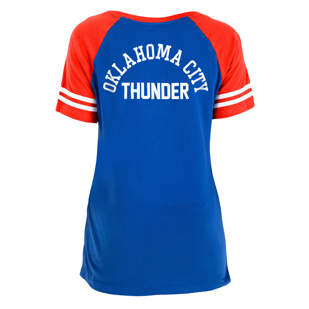 OKC THUNDER WOMENS NEW ERA LACE FRONT TEE
