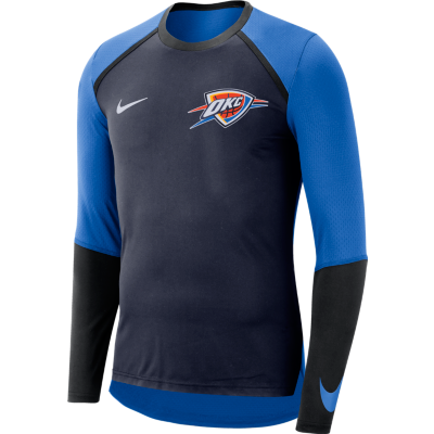 OKC THUNDER NIKE LONG SLEEVE SHOOTING SHIRT