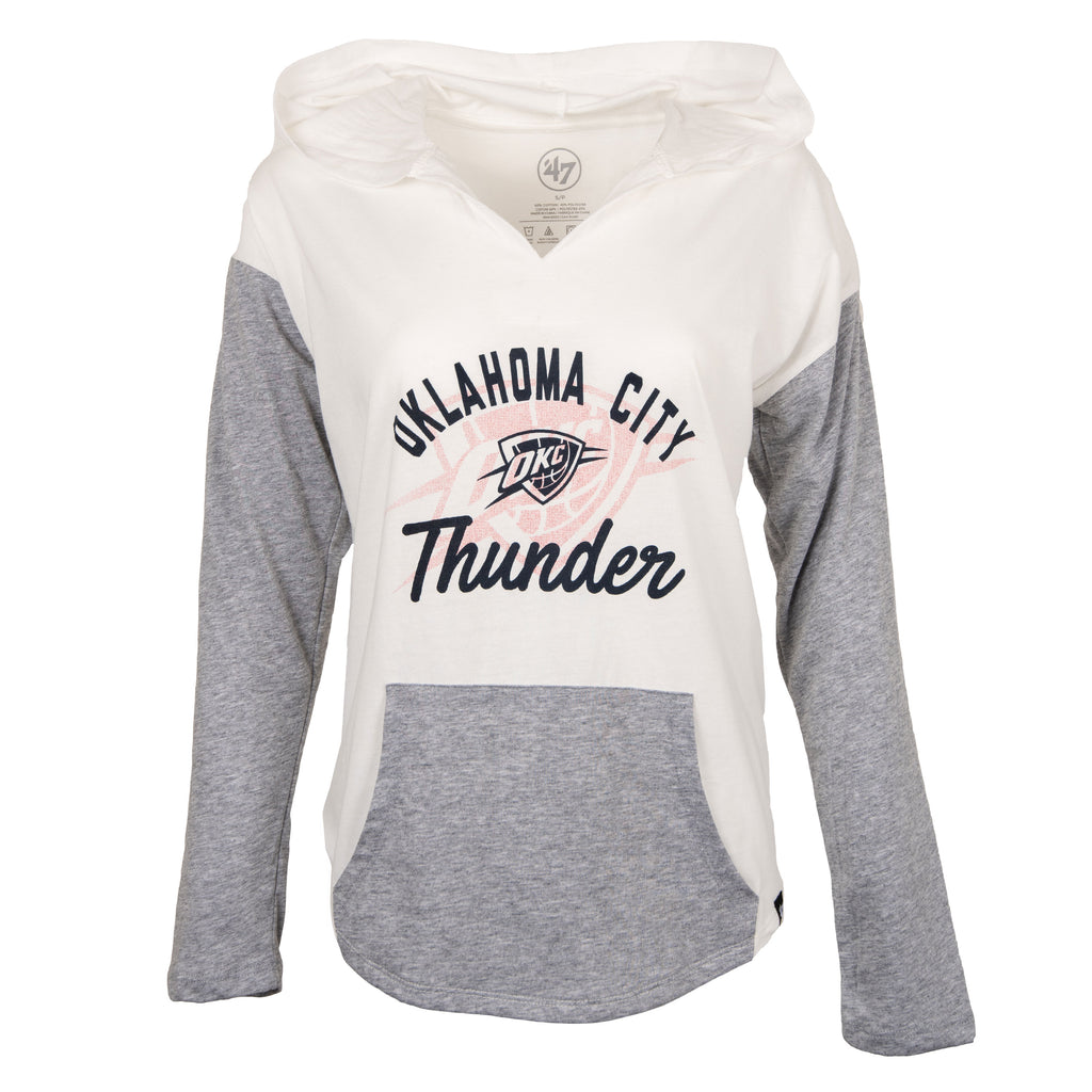 OKLAHOMA CITY THUNDER WOMENS 47 BRAND FADE OUT HOOD