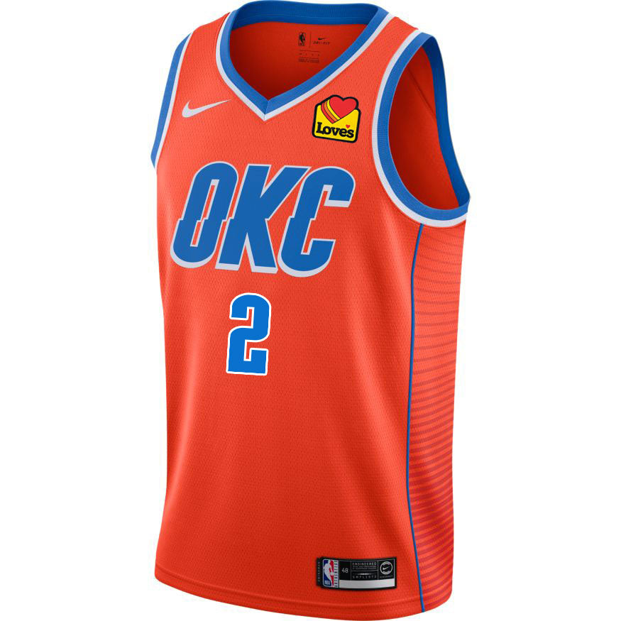 OKLAHOMA CITY THUNDER 2019-20 GILGEOUS-ALEXANDER NIKE AUTHENTIC STATEMENT JERSEY