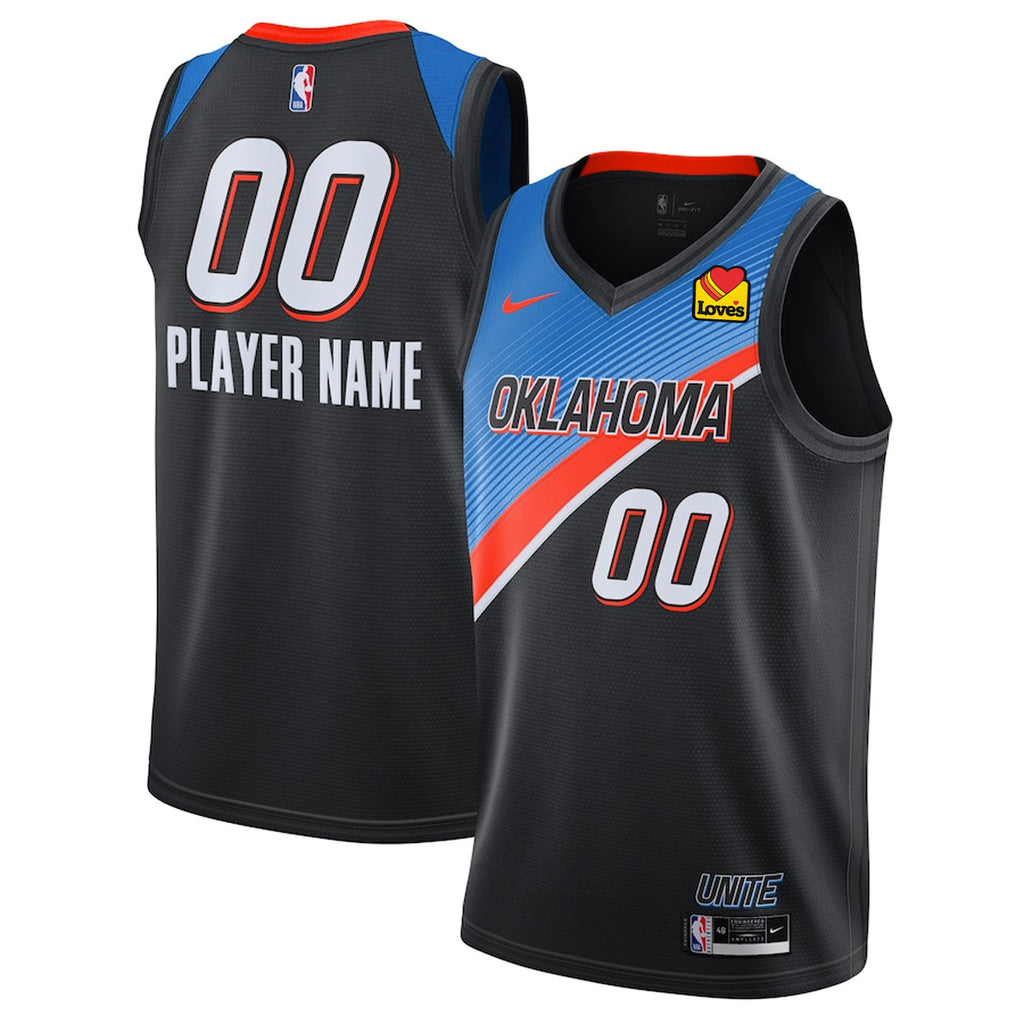 OKC THUNDER 2020-21 NIKE CITY EDITION PLAYER CUSTOM JERSEY
