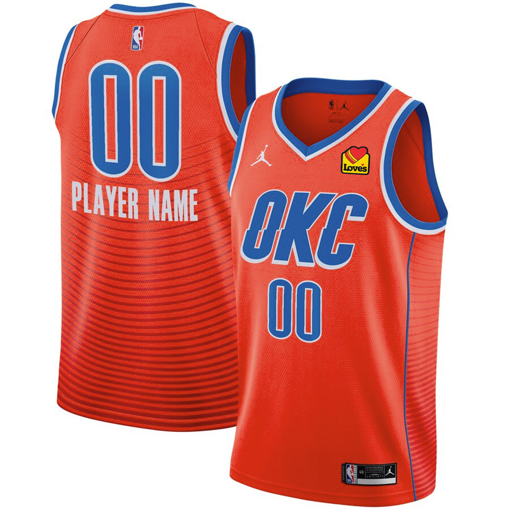 OKC THUNDER CUSTOM PLAYER NIKE STATEMENT EDITION 2020-21 JORDAN NBA SWINGMAN JERSEY