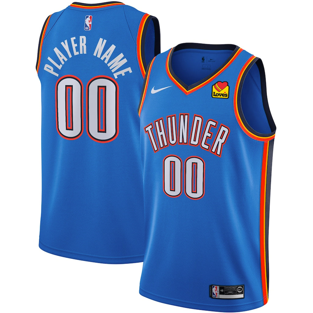 OKLAHOMA CITY THUNDER 2019-20 NIKE YOUTH ICON CUSTOM PLAYER JERSEY