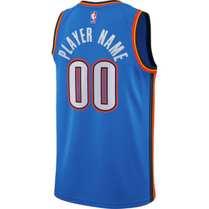 OKLAHOMA CITY THUNDER 2020-21 NIKE ICON CUSTOM PLAYER JERSEY
