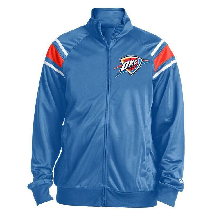 OKLAHOMA CITY THUNDER NEW ERA TEAM TRACK JACKET
