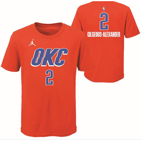 OKC THUNDER TODDLER GILGEOUS-ALEXANDER NAME AND NUMBER TEE