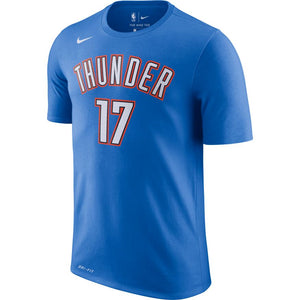 OKLAHOMA CITY THUNDER NIKE ICON EDITION SCHRODER NAME AND NUMBER TEE