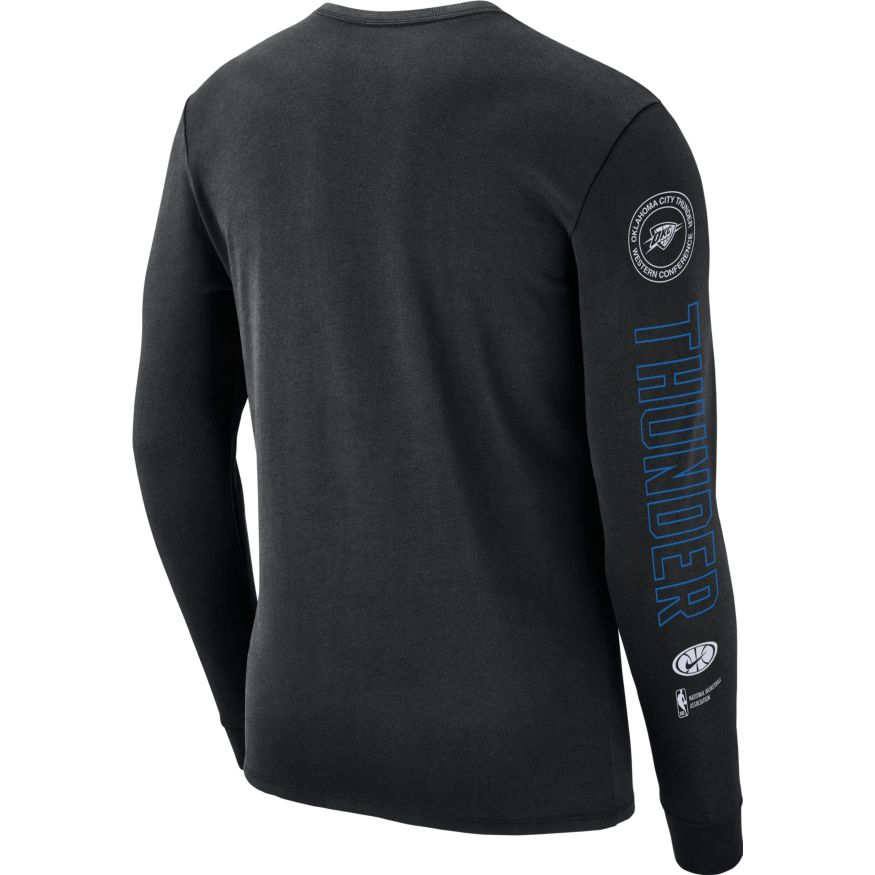 OKC THUNDER NIKE NIKE COURTSIDE LONG SLEEVE SHIRT