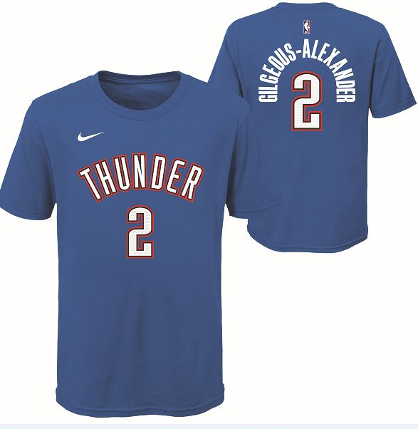 OKC THUNDER YOUTH SHAI GILGEOUS-ALEXANDER NAME AND NUMBER ICON TEE
