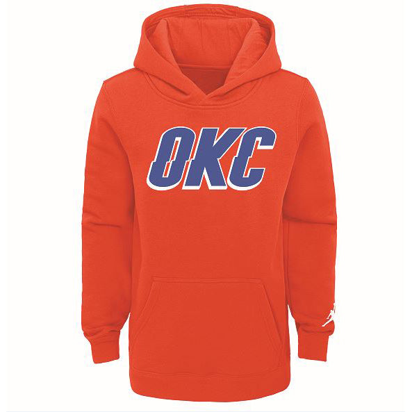 OKC THUNDER NIKE YOUTH STATEMENT PULLOVER HOODIE