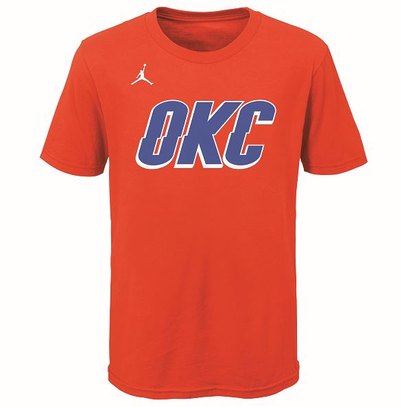 OKC THUNDER YOUTH STATEMENT WORDMARK TEE