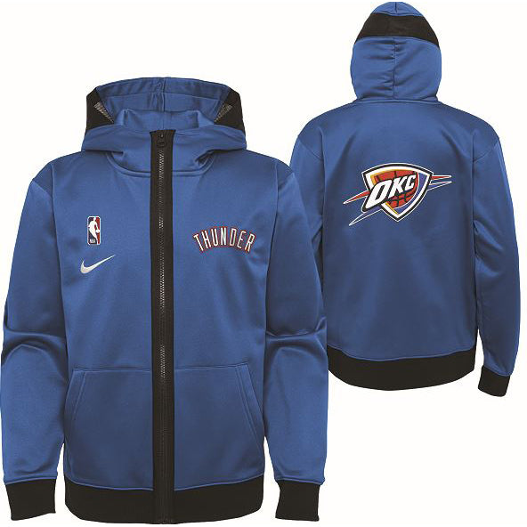 OKC THUNDER NIKE YOUTH SPOTLIGHT FULL ZIP JACKET