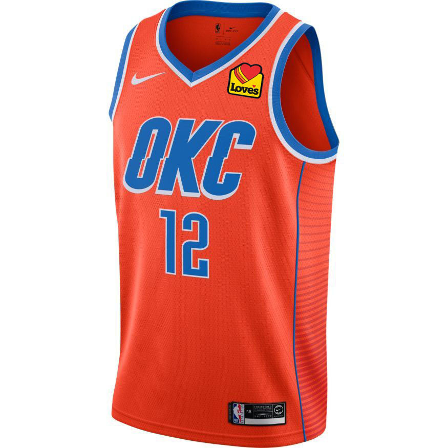 OKLAHOMA CITY THUNDER 2019-20 STEVEN ADAMS NIKE YOUTH STATEMENT SWINGMAN JERSEY