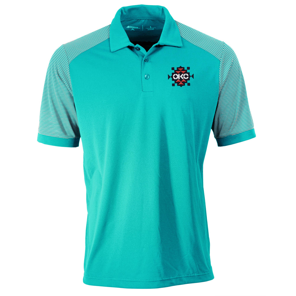OKLAHOMA CITY THUNDER ANTIGUA TEAL POLO