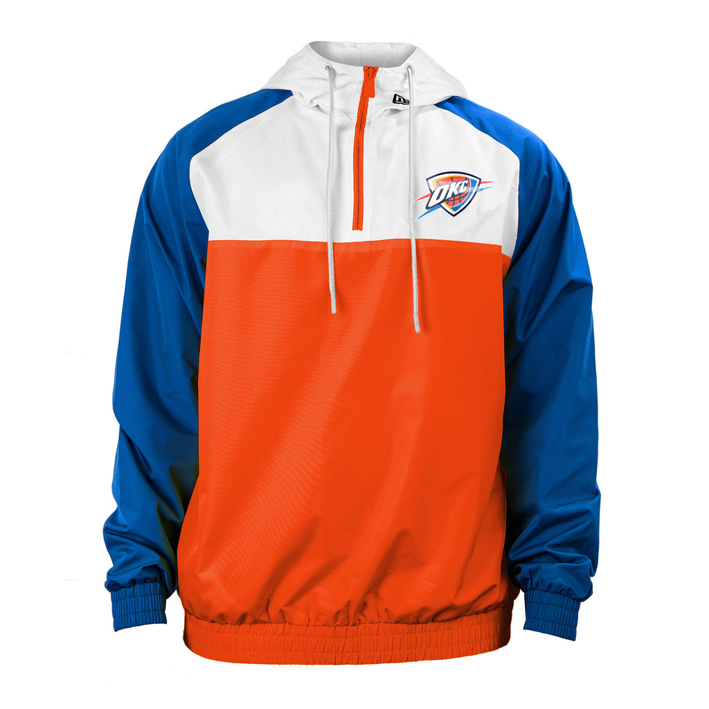 OKC THUNDER MENS NEW ERA COLOR BLOCK TRACK JACKET