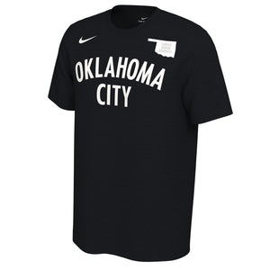 OKLAHOMA CITY THUNDER NIKE EARNED EDITION STEVEN ADAMS NAME AND NUMBER TEE