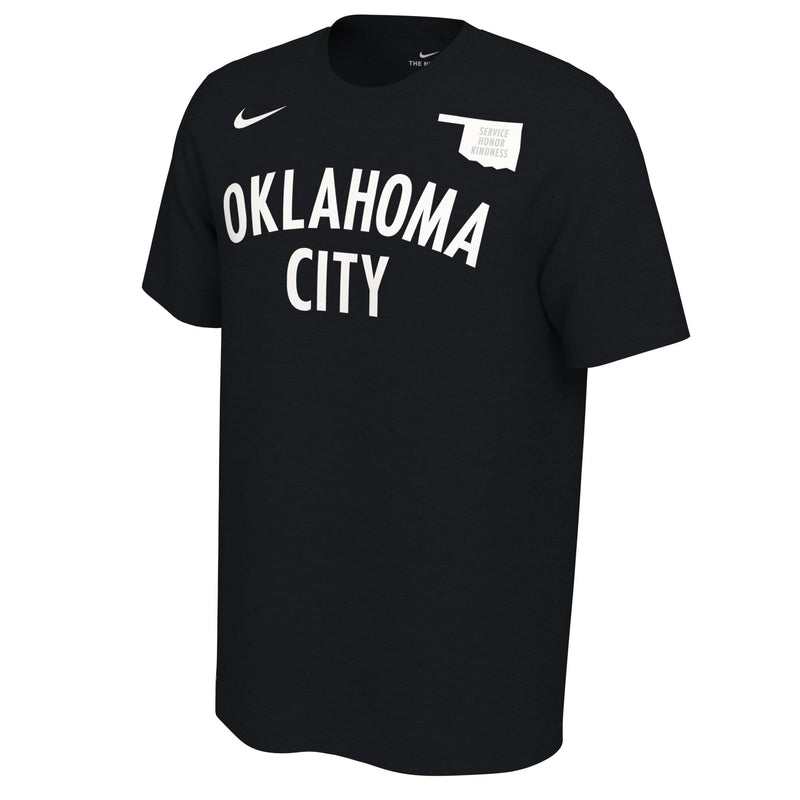 OKLAHOMA CITY THUNDER NIKE EARNED EDITION SHAI GILGEOUS-ALEXANDER NAME AND NUMBER TEE