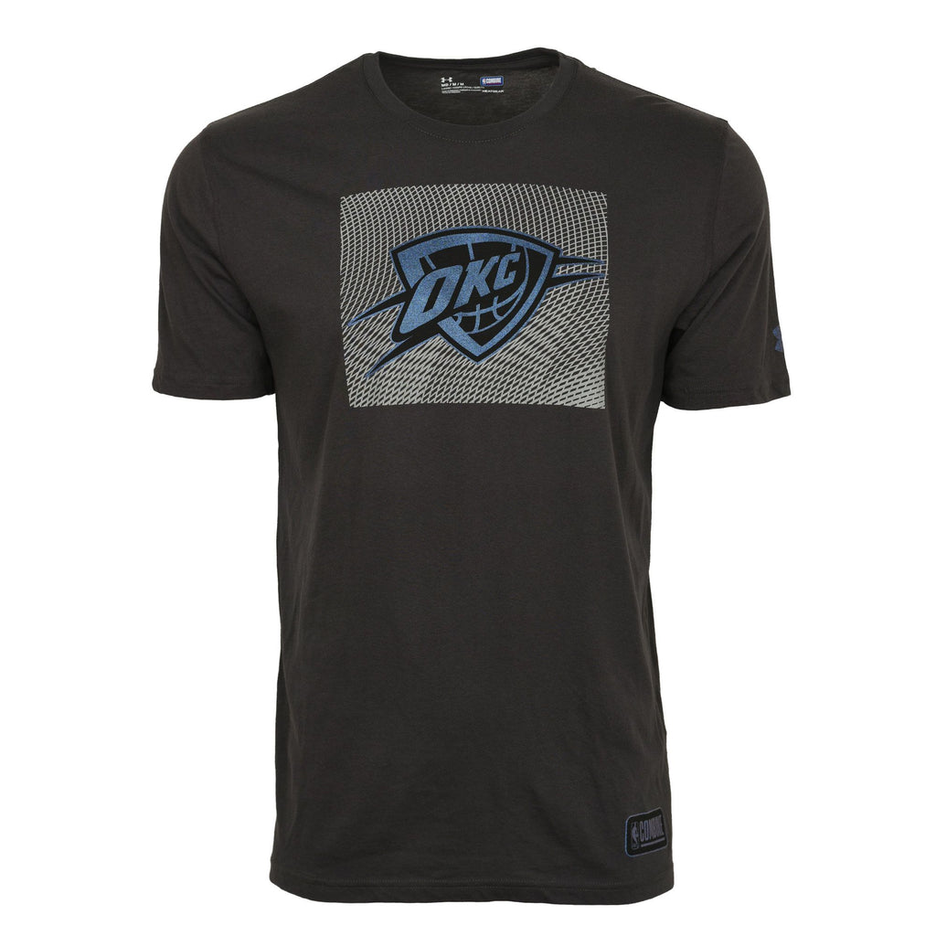 OKLAHOMA CITY THUNDER MENS UNDER ARMOUR NBA COMBINE HOLOGRAPHIC SHORT SLEEVE TEE