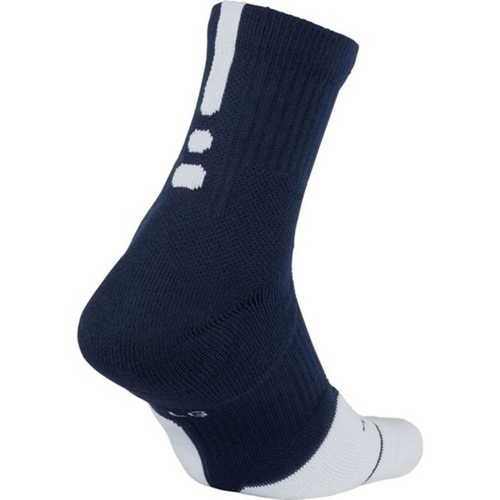 NIKE ELITE MID SOCK NAVY/WHITE