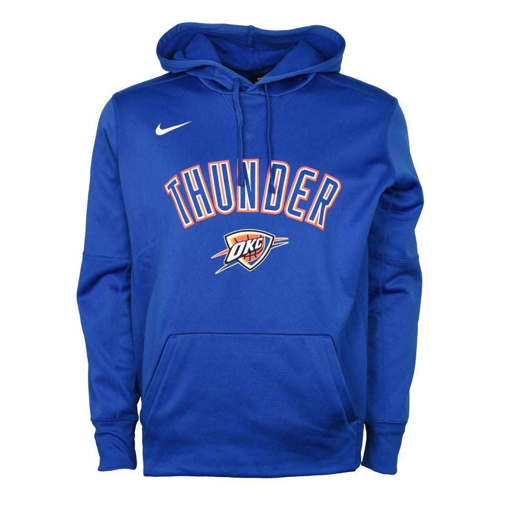 OKC THUNDER NIKE THERMA PULLOVER HOODIE - BLUE