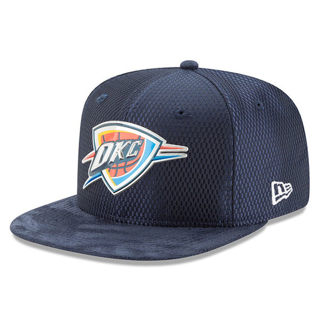 OKLAHOMA CITY THUNDER NEW ERA 59FIFTY NAVY 2017 DRAFT FITTED HAT
