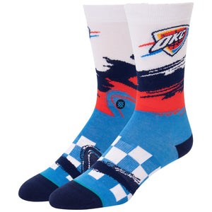 OKLAHOMA CITY THUNDER STANCE WAVE RACER CREW SOCK