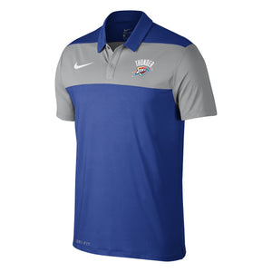 OKLAHOMA CITY THUNDER NIKE MENS COLOR BLOCK POLO