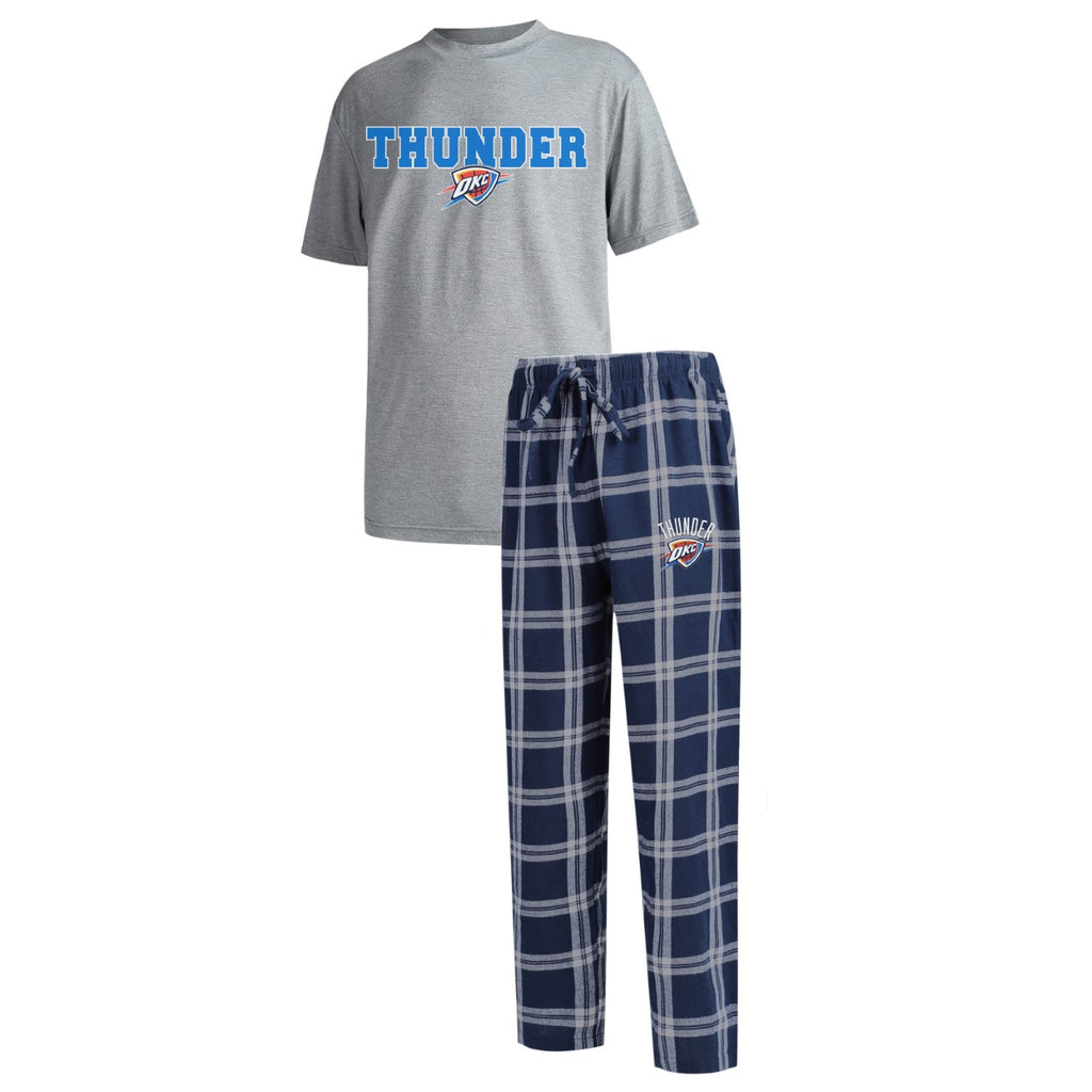 OKLAHOMA CITY THUNDER MENS TOP AND PANT SLEEP SET