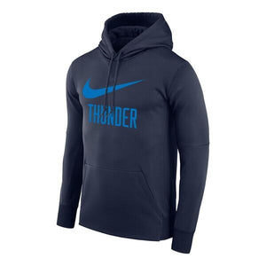 OKC THUNDER NIKE THERMA PULLOVER HOODIE - NAVY