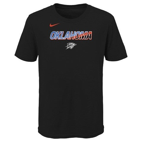 OKC THUNDER NIKE YOUTH CITY EDITION LOGO TEE
