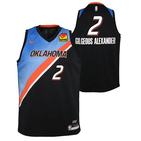 OKC THUNDER SHAI GILGEOUS-ALEXANDER YOUTH NIKE CITY EDITION 2020-21 JERSEY