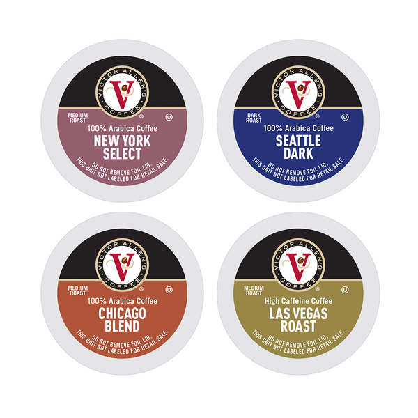 Victor Allen's Coffee Across America Variety Pack, 96 Count, Single Serve Coffee Pods for Keurig K-Cup Brewers