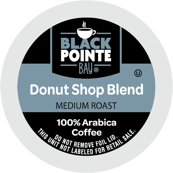 Black Pointe Bay Donut Shop, Medium Roast, Single Serve Coffee Pods for Keurig K-Cup Brewers