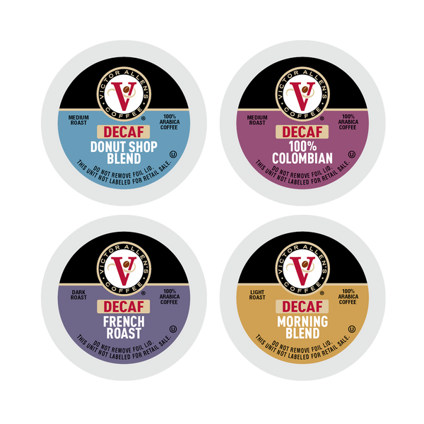 Victor Allen's Coffee Decaf Coffee Favorites Variety Pack 54 Count, Single Serve Coffee Pods for Keurig K-Cup Brewers