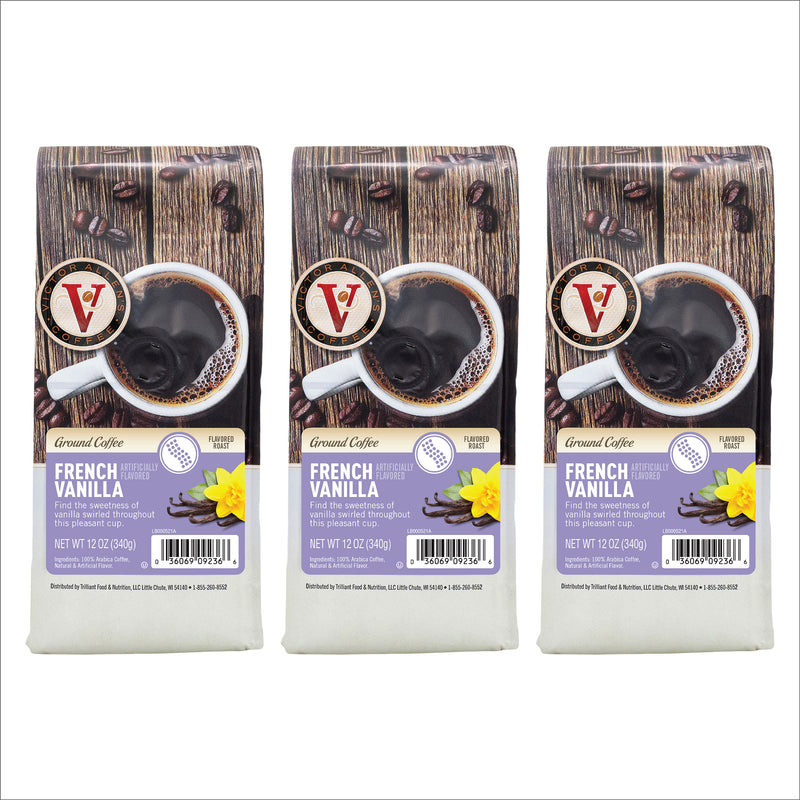 Victor Allen's Coffee French Vanilla, Medium Roast, Ground Coffee