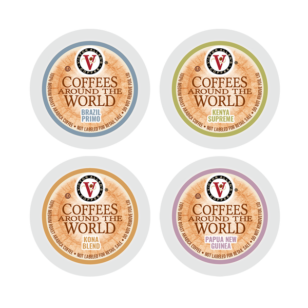 Victor Allen's Coffee Around the World Variety Pack, 96 Count, Single Serve Coffee Pods for Keurig K-Cup Brewers