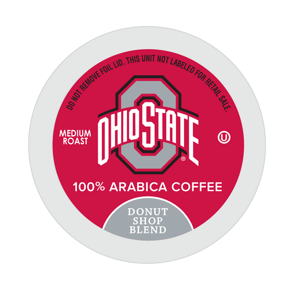 Ohio State University Donut Shop Blend, Medium Roast for Keurig K-Cup Brewers