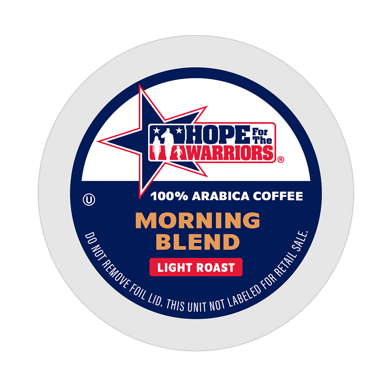 Hope For The Warriors Coffee Morning Blend Single Serve Coffee Pods for Keurig K-Cup Brewers