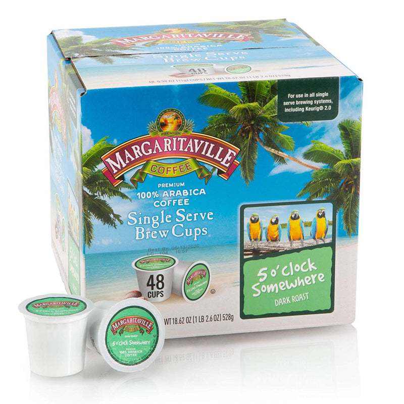 Margaritaville® 5 O'Clock Somewhere Coffee, 48 Count, Dark Roast, Single Serve Coffee Pods for Keurig K-Cup Brewers
