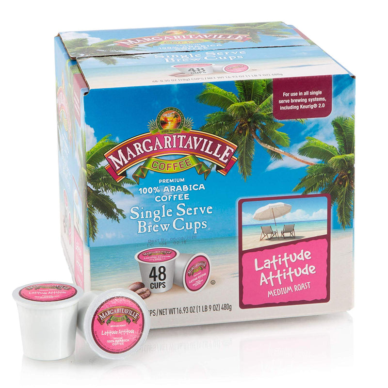 Margaritaville® Latitude Attitude Coffee, 48 Count, Medium Roast, Single Serve Coffee Pods for Keurig K-Cup Brewers
