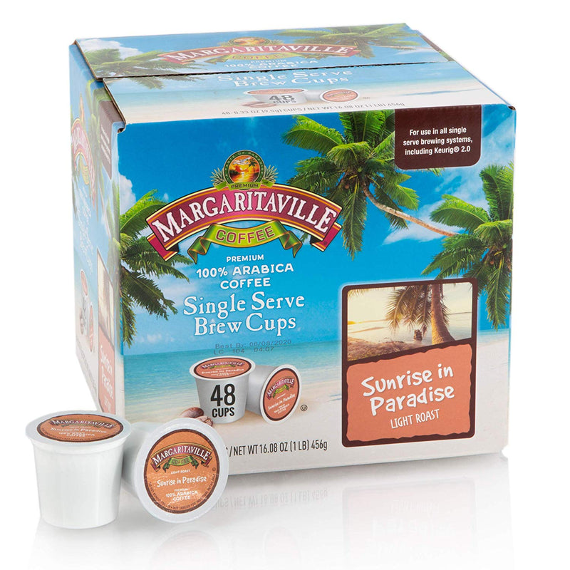 Margaritaville® Sunrise in Paradise, Light Roast, Single Serve Coffee Pods for Keurig K-Cup Brewers