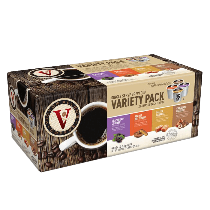 Victor Allen's Coffee Spring Variety Pack, 96 Count, Single Serve Coffee Pods for Keurig K-Cup Brewers
